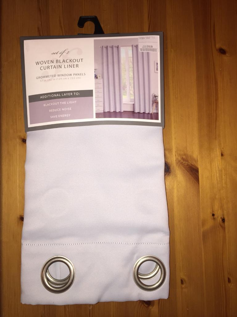 New T K Maxx Blackout Curtain Liner Pair Light Grey Mauve In Sherfield On Loddon Hampshire Gumtree