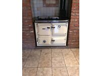 Cream Rayburn Solid Fuel Cooker