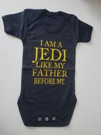 Star wars themed baby grow 12-18 months