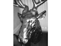 Large chrome Reindeer