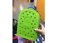 Brand New Crocs Green children back pack