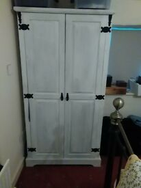 Painted mexican pine single wardrobe