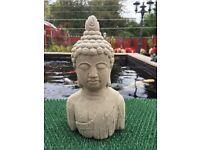 Garden Stone Buddha Statue Bust