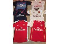 Arsenal shirts 2x Small 4x Medium £10 each