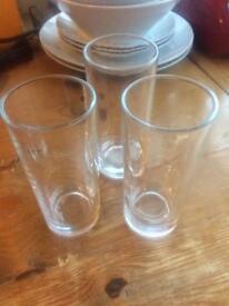 3 Highball Glasses