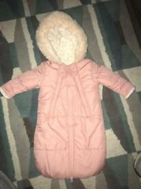Baby girls snowsuit/ snowdress