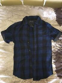 Topman Buffalo Check Shirt Flannel XS