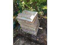 Garden slabs for £2/slab