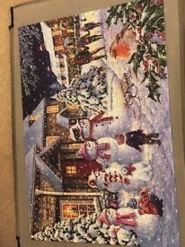 1000 piece (varied and interesting shapes) - House of Puzzles Christmas scene