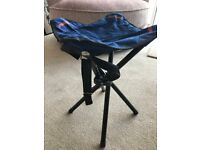 Barbour folding stool for fishing or hiking