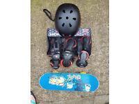 Mini Skate board and Protective Gear.