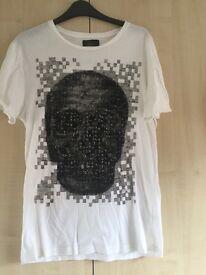 Zara White Skull T Shirt