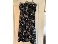 Monochrome strapless dress, size 16
