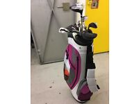 GOLF CLUBS LADIES + BAG + GOLF SHOES SIZE 7 + GOLF TROLLEY - £99 ono for lot, priced for quick sale