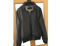 Mens Gucci GG monogram bomber jacket with hideaway hood