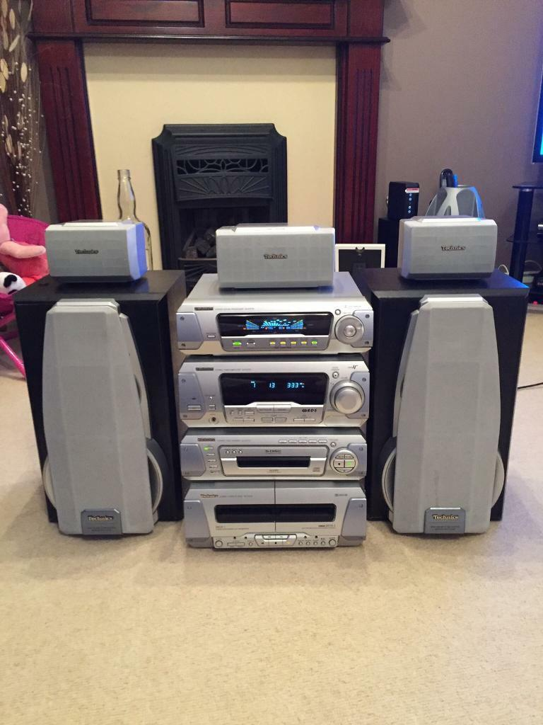 Technics Sh Eh770 Hi Fi 5 Disc Cd System Seperates In