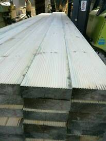 Heavy Duty Untreated Decking 38mm x 120mm 3.9mtr Lengths