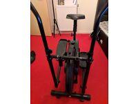 CrystalTec 2 in 1 Cross Trainer / Exercise Bike