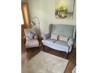 (BRAND NEW) Two seater Queen Anne style and one seater tartan