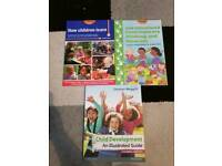 Collection of childcare university books