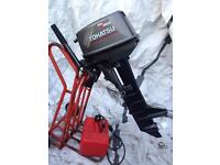 Tohatsu outboard 8 Hp Long Shaft in mint condition Tiller control pull start