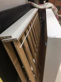 John Lewis bunk bed frame with truckle bed