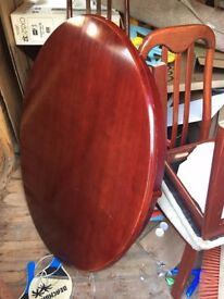 Solid Rosewood Round Dining Table with 3 Chairs / Wood Shoe Rack