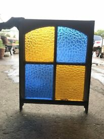 Old coloured glass window