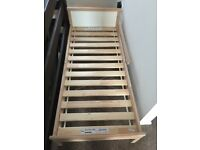 **REDUCED** Almost New - Kids single bed from Ikea with base