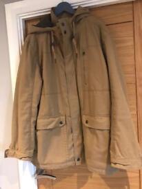 Men's parka style coat