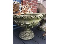 Assorted Garden Planters Sold as Set