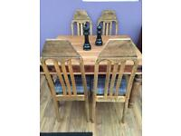 Sheesham dining table & 4 dining chairs
