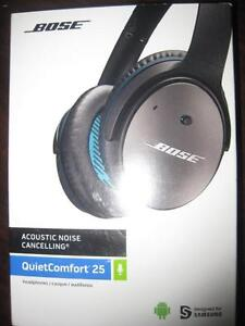 Bose QC25 Over Ear Noise Cancelling Comfort Headphones / Headset with Mic.for iPhone / Ipad / Ipod. AUX. Audio. Like NEW