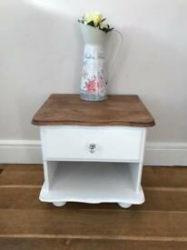 Decorative pine bedside cabinet