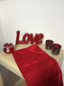 Red Home Accessories Bundle