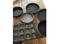 various cake/baking tins
