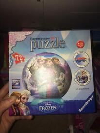 Frozen puzzle ball