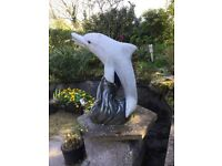 Concrete dolphin for sale if used as water feature will need a pump VGC