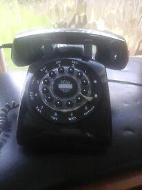 CLASSIC black telephone,push button dialling