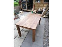 Hand made Dinning table and Ikea chairs