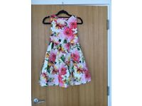 Next girls floral print occasion dress