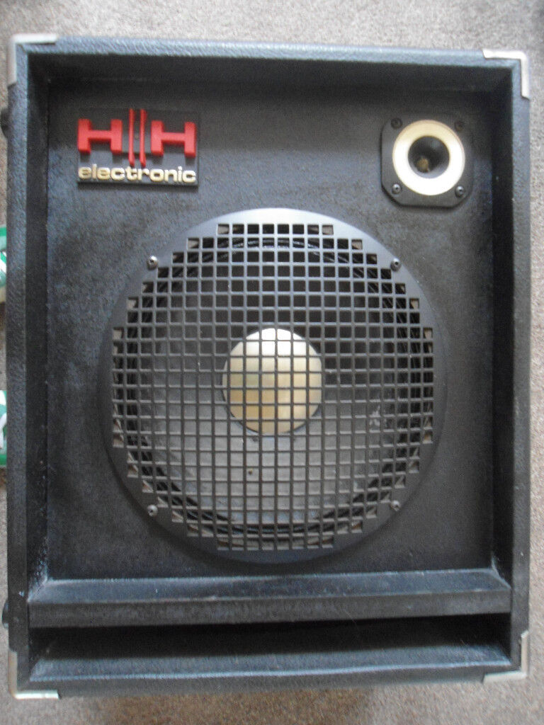 2 x HH 100w speakers from Strawberry studios