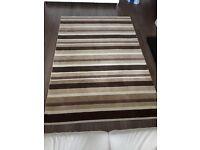 100% Wool Stripe rug: 160 x 230cm - Excellent condition