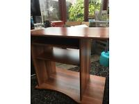 Dark oak computer table
