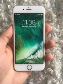 iPhone 6S , 64GB , Gold , Unlocked to any network .