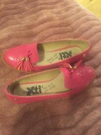 Pink loafer shoes