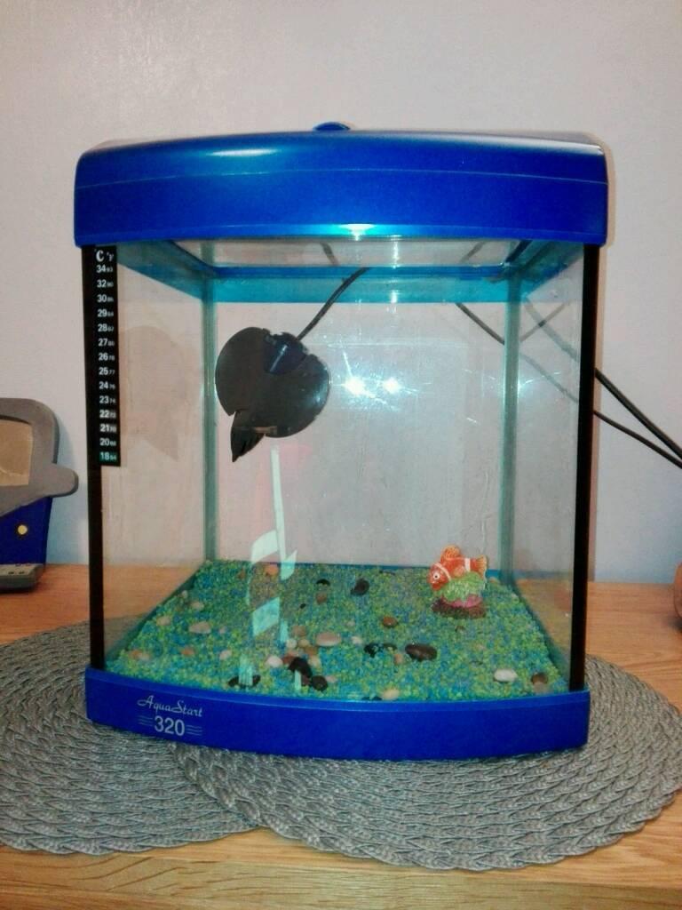 Aquarium fish tank 28 litre elite stingray filter in for Stingray fish tank