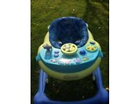 Baby walker and hight chair for sale