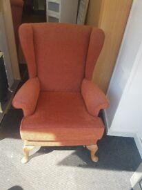 Victorian Wingback Armchair