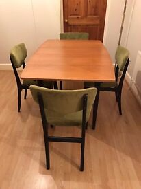 1960's Extending Dining Table & 4 Chairs